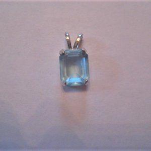 Aquamarine Pendant Silver Surround